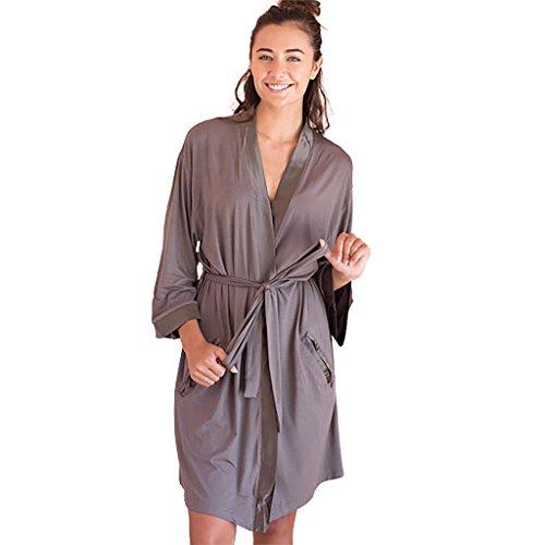 Faceplant Dreams Dreamwear Bamboo Kimono Robe (Large/X-Large, Earl (Bamboo Kimono Robe)