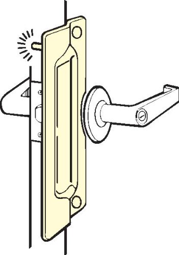 Don-Jo PLP-211 12 Gauge Steel Pin Latch Protector, Silver Coated, 3'' Width x 11'' Height, For Outswinging Doors (Pack of 10)