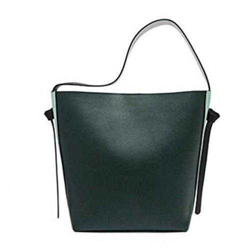 Le Donne Di Grande Capacità Secchiello In Pelle Tote Bag Borsa A Tracolla C