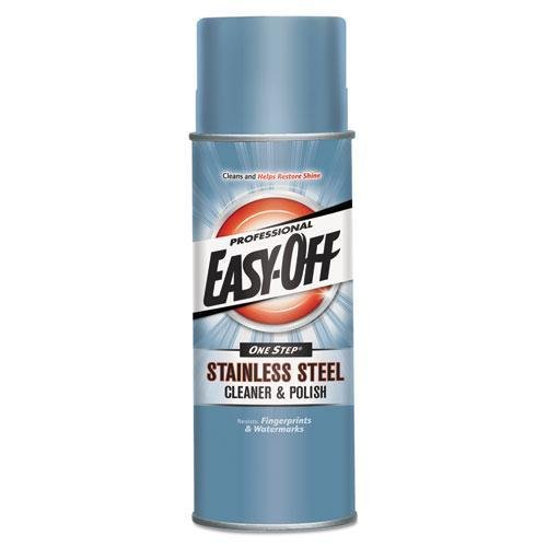 (Professional EASY-OFF 76461 Stainless Steel Cleaner & Polish, Liquid, 17 oz. Aerosol Can)