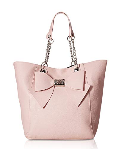 Betsey Johnson Women's Bag in Bag Bow Tote Blush One Size - Evening Johnson Betsey
