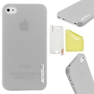 Advanced Accessories diseño de fantasmas funda con tapa para iPhone 4/4S - gris