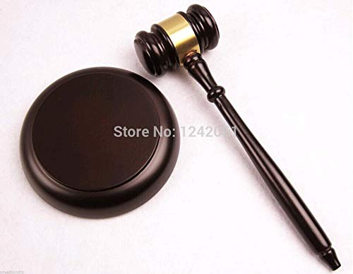 Wooden Handcrafted Wood Gavel Sound Block for Lawyer Judge Auction Sale