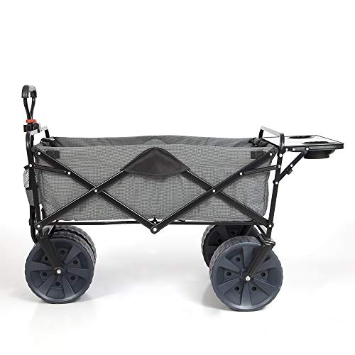Mac Sports Collapsible Heavy Duty All Terrain Utility Wagon w/Table, Gray