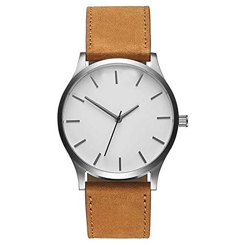 Män klocka klockor klocka kronograf armbandsur rostfritt stål band & läder