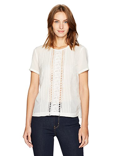 French Connection Women's Violet Cotton Top, Summer White 2