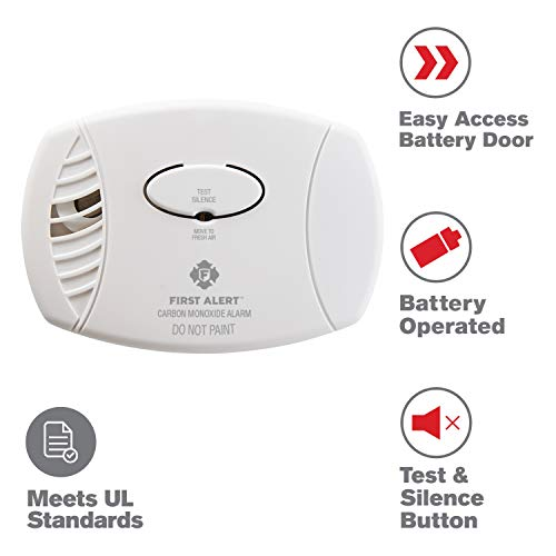 First Alert Carbon Monoxide Detector| No Outlet Required, Battery Operated, CO400 (Best Place To Place Carbon Monoxide Detector)