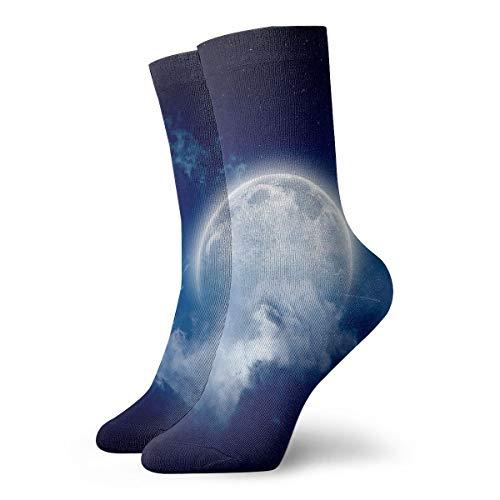 YUANSHAN Socks Moonlight Cloudy Night Women & Men