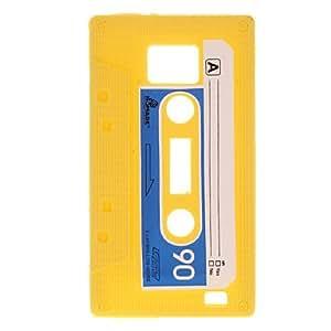 HC-Yellow cassette del caso del patrón de silicona suave y protector de pantalla para Samsung I9100 Galaxy S2