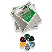 Legato Electric Guitar Strings Professional - (2 Sets) Nickel Alloy w/ 6 Guitar Picks (Normal Light 10-46) Coated