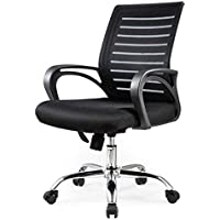 Neo Front concise style office chair black Nylon medium back low back with wheels computer chair study chair