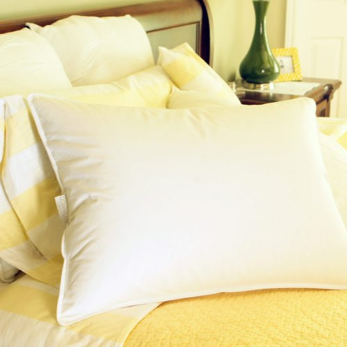 50% White Goose Feather - Luxury Hotel Style 50% Goose Down and 50% Goose Feather Blend Pillow - Medium Density