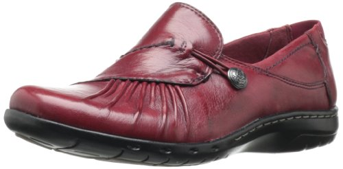 Rockport Cobb Hill Women's Paulette Flat, Red, 10 W US by Cobb Hill