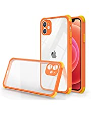 Tybiky Fodral kompatibel med iPhone 11 Pro Max, transparent smal stöttålig mjuk silikon TPU skyddsfodral, reptålig TPU stötfångare fodral skal mobilskal kompatibel med iPhone 11 Pro Max. Orange