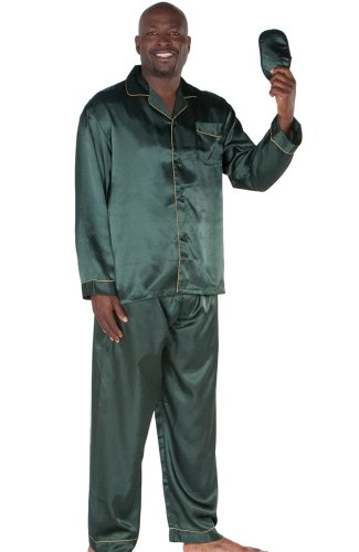 Men's Classic Satin Pajama Set and Sleep Mask | PrettyIll.com