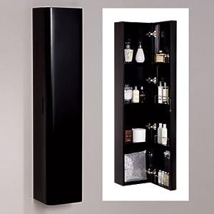 1500mm Black Wall Mounted Bathroom Cabinet Storage Unit