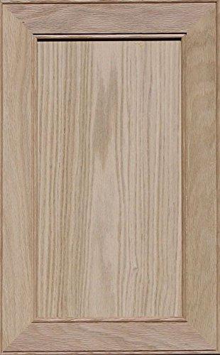 Flat Panel Cabinet Doors - Unfinished Oak Mitered Flat Panel Cabinet Door by Kendor, 21H x 13W