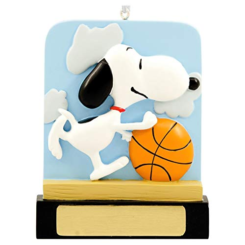 Hallmark Peanuts Snoopy Basketball Blank DIY Personalization Ornament
