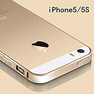 ZXC Ultra-thin Metal Aluminum Luxury Bumper Frame Case for iPhone 5/5S (Assorted Colors) , Golden