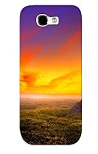 Crazylove Durable Defender Case For Galaxy Note 2 Tpu Cover(landscapes Sunrise Sunset Color Sky Clouds ) Best Gift Choice