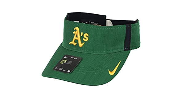 c340386222d NIKE Men s Oakland Athletics AeroBill Vapor Visor One Size Green Yellow   Amazon.ca  Sports   Outdoors