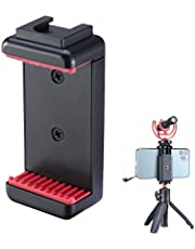 ULANZI ST-07 Phone Tripod Mount with Cold Shoe Mount for Microphone LED Video Light 1/4'' Tripod Screw for iPhone 11/Pro/Pro Max XS Max XR X 8 7 Plus Samsung Galaxy OnePlus Google Pixel Vlog Vlogging