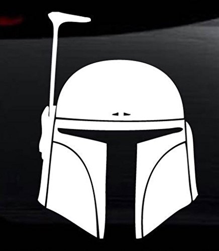 Original Sevens Costume Ideas (CCI100 - Star Wars Boba Fett Vinyl Decal Sticker for Car Automobile Window Wall Laptop Notebook Etc.... Any Smooth Surface...)