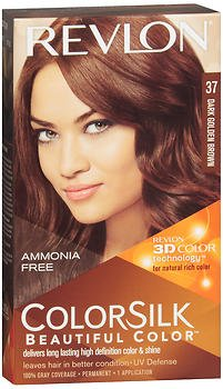 Revlon ColorSilk Beautiful Color Permanent Color 37 Dark Golden Brown, Pack of ()