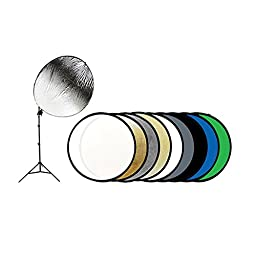 Savage 43 In. 9-in-1 Reflector Kit with Stand