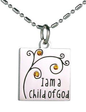 Child of God Birthstone Necklace - November (Topaz) - P79511