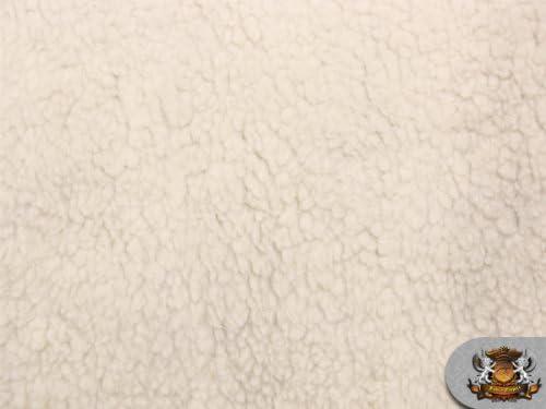 [해외]Heavy Duty SHERPA SHEEP SKIN Ivory Faux Fur Fabric  66WBTY / Heavy Duty SHERPA SHEEP SKIN Ivory Faux Fur Fabric  66WBTY