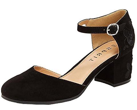 Esprit Women's Ellen-E Black Shoe - Mary Jane Shoe Block Heel