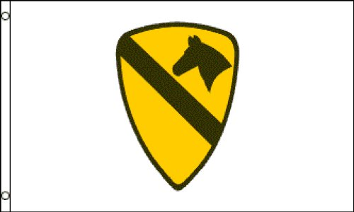1st Cavalry Flag (White) 3x5ft Poly