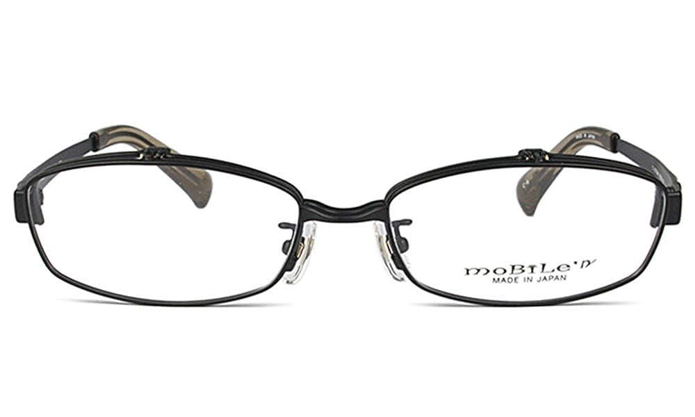 モバイルン Mobile' n MB-605 55サイズ メガネ 眼鏡 跳ね上げ フレームのみ c.6 ブラック B07LFX8D7Q