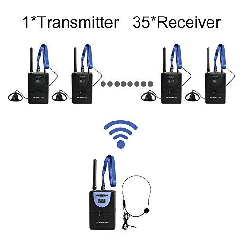 納得できる割引 TP-WIRELESS 有効範囲100m 2.4GHzツアーガイドシステム、ガイドツアー、言語解釈ポータブル翻訳Tourguideシステム 受信機35個 有効範囲100m 30の周波数帯が選べられ (送信機1個 受信機35個) TP-WIRELESS B076PB4JQT 送信機1個 受信機35個, JA道北なよろ:9a764044 --- womaniyya.com