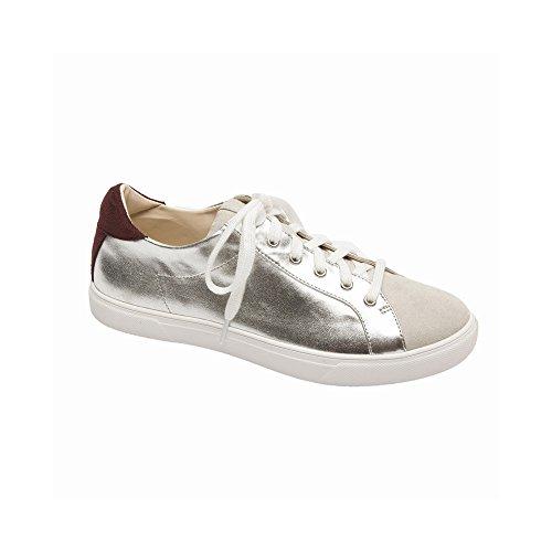 - PIC/PAY Aryo Women's Sneakers - Lace-up Metallic Sneaker Silver Metallic PU 8M