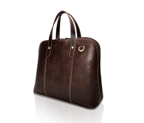 lavoro coffee color uomo color viaggio indossabile borsa lucida shopping messenger borsa SHOUTIBAO Cartella in da e coffee vintage in resistente pelle pelle tracolla 6SRqHxBw