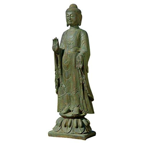 Design Toscano JE142050 Enlightened Buddha Asian Decor Garden Statue, 40 Inch Bronze Verdigris Finish
