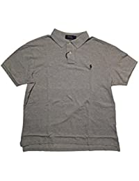 Mens Heathered Mesh Polo Shirt