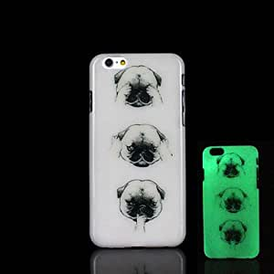 HJZ Animal Dogs Pattern Glow in the Dark Case for iPhone 6 Cover