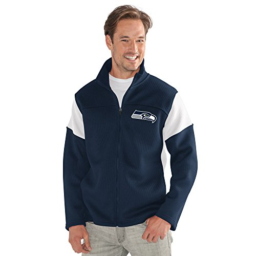 G-III Sports by Carl Banks Adult Men Halftime Full Zip Jacket, Navy, X-Large