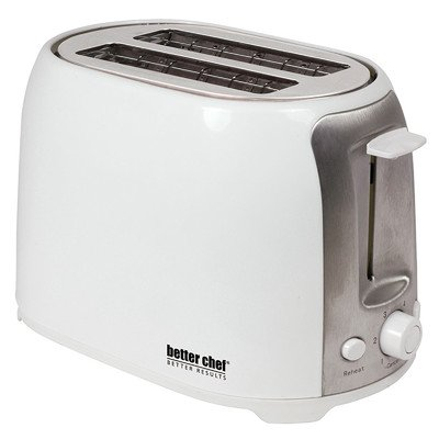 2 Slice Cool Touch Wide-Slot Toaster Color: White