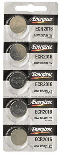 Battery Door Spare - Energizer CR2016 Lithium Battery 3V, 5 Pack