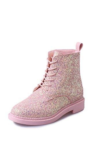 Pink slip De Otoño E Botas Las Salvaje Non Botas Invierno Sequins Mujer La Cashmere Moda Plus Mujeres De qzTFztwrH