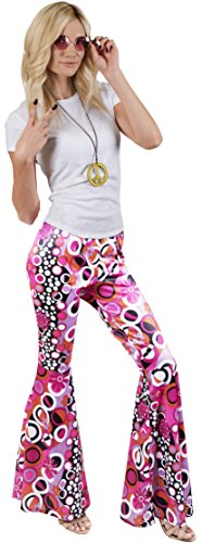 Kangaroo's Halloween Accessories - Groovy Hippie Pants, Small/Medium -