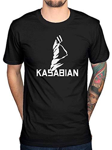 Kasabian T-shirts - Kasabian Logo Mens Short Sleeve T-Shirt Casual Tops Tees Black