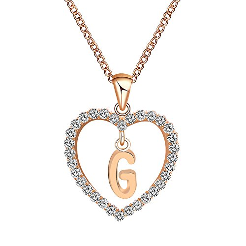 Gbell Clearance! Fashion Girls Women A-Z Letters Necklaces Charms,26 English Alphabet Name Chain Pendant Necklaces Jewelry Birthday Gifts, Ideal For Party Costume,Wedding,Engagement (G)
