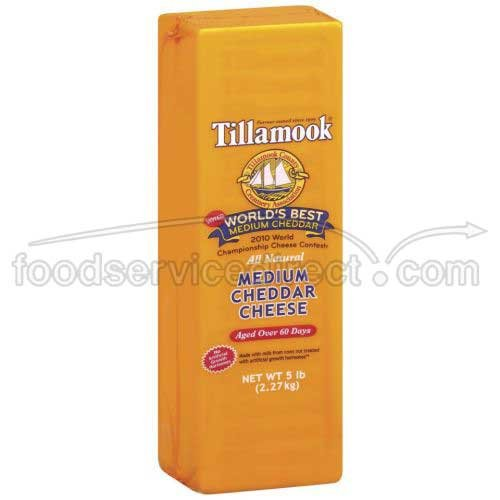 (Tillamook Medium Cheddar Cheese, 5 Pound - 2 per case.)