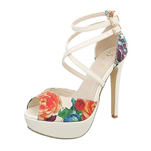 Aiguille High Multi Heel Chaussures Escarpins Od Design Beige Ital Femme Sandales 21 Sandales p1I5xv0