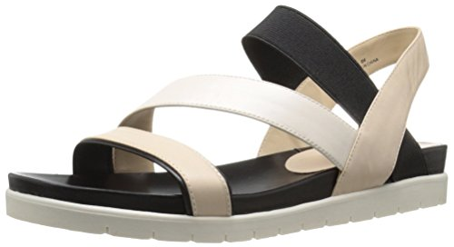 Nine West Women's Zengen Leather Dress Sandal, Light Natural/Multi, 7 M US (Nine West Flat Sandals Women)
